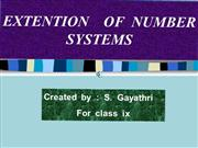 Extension of Number systems N to R