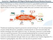 Significance Of Digital Marketing In Present Business Scenario