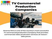 TV Commercial Production Companies