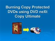 Burn Copy Protected DVDs