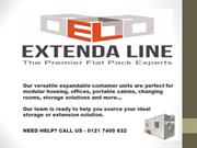 Flat Pack Storage Containers | Extendaline - Portable Office Cabins
