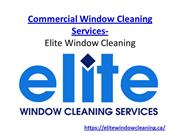 Residential Window Cleaning Services in Ajax-Elite Window Cleaning