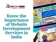 Know the Importance of Website Development Services in India