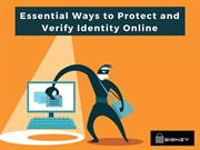 Essential Ways to Protect and Verify Identity Online