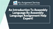 An Introduction To Assembly Language By Assembly Language Assignment