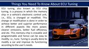 Things You Need To Know About ECU Tuning