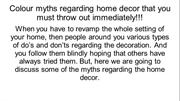 Colour myths regarding home decor that you must throw out immediately