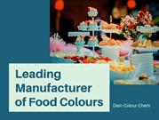 Best Food Colours Manufacturer | Dain Colour Chem