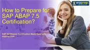 How to Prepare for C_TAW12_750 exam on ABAP 7.5