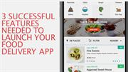 3 Successful Features Needed to Launch Your Food Delivery App