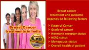 Breast cancer treatment in India.