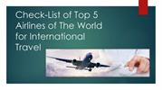 Top 5 Airlines of The World To Get Cheap Flights Tickets