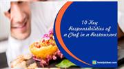 10 Key Responsibilities of a chef in a restaurant