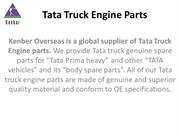 Tata Truck Engine Parts Supplier in South Africa