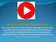 How To Increase YouTube Video Views