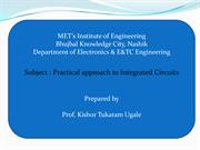 Practical approach of Integrated Circuits