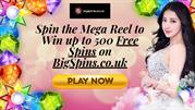 Spin Mega Reel to Win up to 500 Free Spins