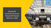 Nonprofit Conferences Every Nonprofit Should Attend in 2020