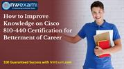 How to Improve Knowledge on Cisco 810-440 Certification