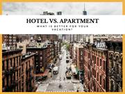 Hotels vs Apartments for holidays