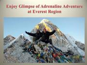Enjoy Glimpse of Adrenaline Adventure at Everest Region