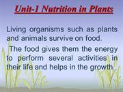 Unit-1 Nutrition in Plants