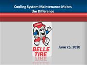 Cooling System Maintenance Makes the Dif