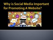 Why is Social Media Important for Promoting website