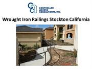 Wrought Iron Railings Stockton California