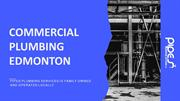 Commercial Plumbing Edmonton at Affordable Price