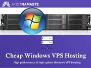 Cheap Windows VPS Hosting Services