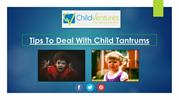 Tips to deal with Child Tantrums