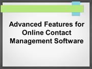 Advanced Features for Online Contact Management Software
