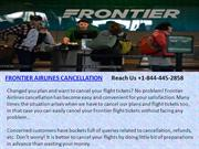 FRONTIER AIRLINES CANCELLATION