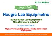 Educational Lab Equipments Manufacturers
