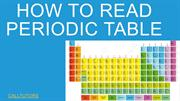 HOW TO READ PERIODIC TABLE