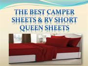 The Best Camper Sheets & RV Short Queen Sheets