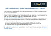 How to Make the Right Choice of Designer Kids Boutique Collection?