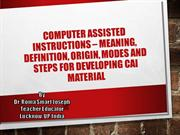 Computer assisted instructions – Meaning, definition,