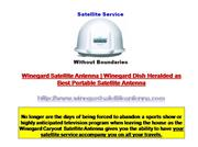 Winegard Portable Satellite Antenna