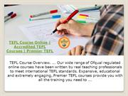 TEFL Course Online | Accredited TEFL Courses | Premier TEFL