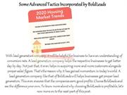 Some Advanced Tactics Incorporated by BoldLeads