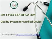 ISO 13485 Quality System for Medical Device
