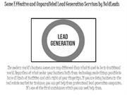 Some Effective and Unparalleled Lead Generation Services by BoldLeads