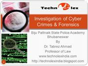 Investigation of Cyber   Crimes & Forens