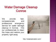 Water Damage Cleanup Conroe