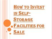 Self-Storage Facilities for Sale and Making the Right Investment