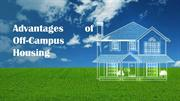 Advantages of Off-Campus Housing
