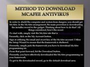 mcafee activation ppt