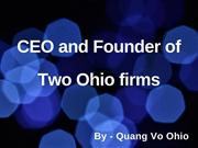 Quang Vo of Ohio - CEO at Physician Source